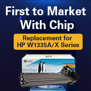With-chip Replacements for HP W1335A/X are Available by G&G