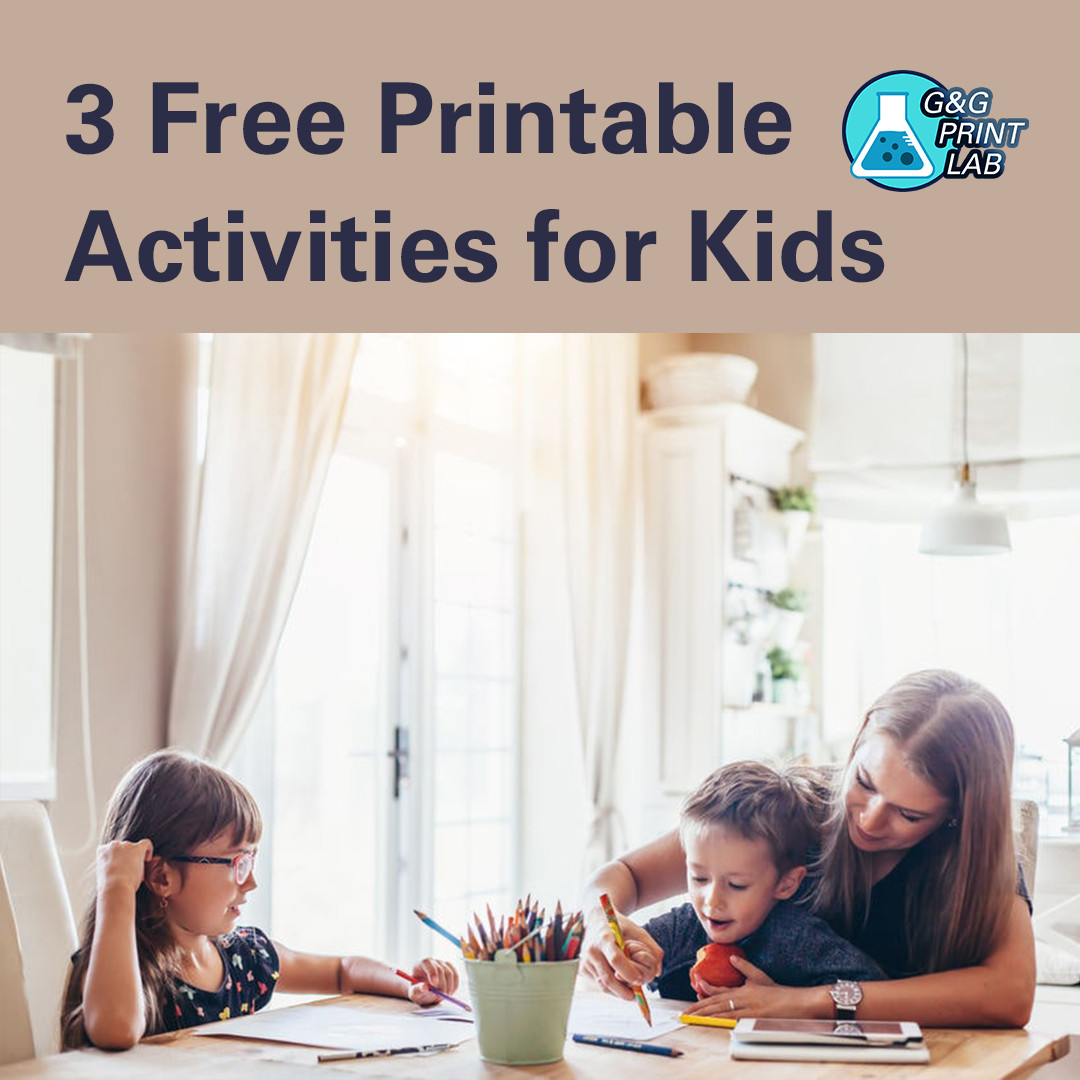 Have Fun At Home: Free Printable Activities for Kids