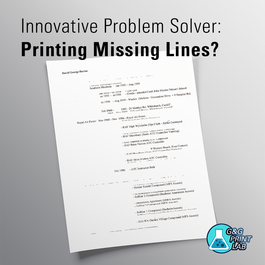 Innovative Problem Solver: Printing Missing Lines?